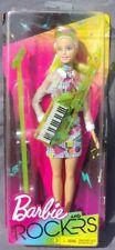 Barbie and THE ROCKERS blonde 2017 Mattel FHC03 boite abimée trouée poupée NRFB