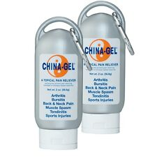 China Gel 2 oz 2 PACK Topical Pain Reliever for Aches Pains & Arthritis!