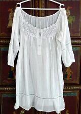 Tunique blanche femme ELSA style bohême taille 42 NEUVE