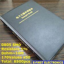 0805 1% SMD SMT Chip Resistors Assortment Kit 170Values x50 Assorted Sample Book