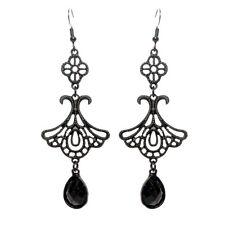 Black Dangle Earings Women's Party Ladies Fashion Earing Rhinestone