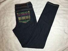 NWOT - Womens Rocawear Slim Skinny Stretch Denim Dark Blue Jeans - Size 7