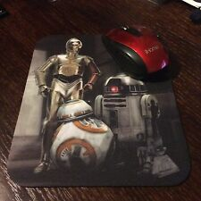 Star Wars Mousepad With R2D2, C3PO & BB8. 8.5 X 7