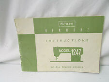 Sear Kenmore Instruction Booklet for Model 1247 Zig-Zag Sewing Machine