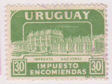 (UGA-179) 1960 Uruguay 30c green Parcel post (D)