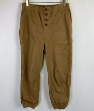 Free People Cadet Pull On Joggers Pants Brown Pockets Cropped Size S