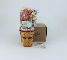 Longaberger May Series Miniature Snapdragon Basket Combo w Flowers NIB