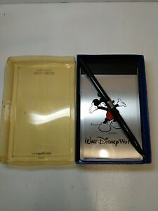 Vintage Walt Disney World Collectable Memo Pad/Pen With Metal Lid All Paper NEW