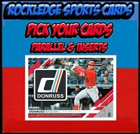 2019 Donruss Parallels & Inserts (Pick Your Cards)