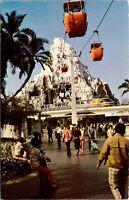 Disneyland Postcard Matterhorn Mountain Skyway Skyride Buket Tomorrowland~134836