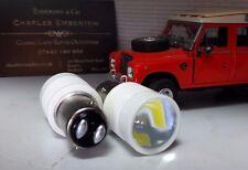 2x P21/5W 380 1156 Ceramic BAY15D 5050 LED Brake Tail Rear Car Bulbs Clear Red