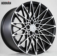 18X8 AodHan LS01 5X112 +40 Black Rims Fits VW cc eos golf rabbit