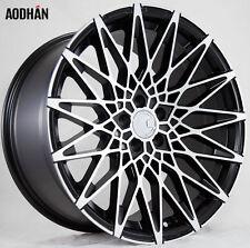 18X8 AodHan LS01 5X114.3 +35 Black Rims Fits Tuburon Mazda 3 Eclipse Rx8