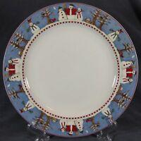 Debbie Mumm Snowman Dinner Plates Sakura Stoneware Christmas