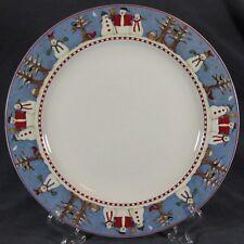 Debbie Mumm Snowman Dinner Plates (M2) Sakura Stoneware Christmas