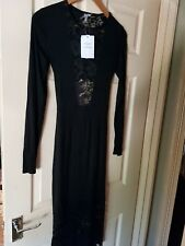 BNWT Womens ASOS Long Sleeve Lace-Effect Dress. Size 10