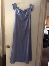 Alfred Angelo full length gown size 7/8 periwinkle