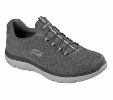 Skechers Sport Mens SUMMITS FORTON Sneakers Men Grau Gummizug