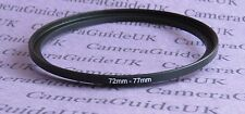 72mm to 77mm Male-Female Stepping Step Up Filter Ring Adapter