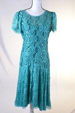 After Dark Womens Dress 2 pc  Slip Lace Overlay drop waist   (S)