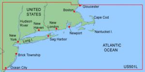 Garmin BlueChart Cape Cod - New Jersey MUS501L Data Card Marine Chart Map Chip