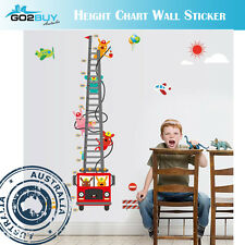 Wall Stickers Removable Fire Truck Ladder Height Kids Nursery Decal Growth Chart