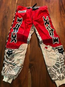 "Vintage Fox Image Racing Spiderweb Motocross Pants - size 32"" - made in Finland"
