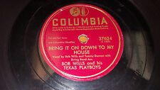 BOB WILLS HIS TEXAS PLAYBOYS Mean Mama Blues/ Bring It On Down 78 Columbia 37624
