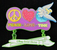 Disney Artist Choice Peace Love TINK Tinkerbell  Pin