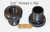 "3/4""  0.75"" Thread X Slip Quality Bulkhead Fitting by CPR with Silicone Washer"