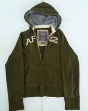 Abercrombie and Fitch Green Zip Hoodie Sweatshirt AF 92 Fall Jacket Size Large