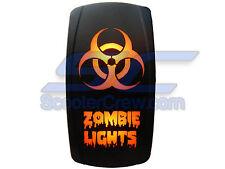 Orange Zombie Lights Rocker Switch Waterproof RZR RZR4 Crew Ranger 900 800 XP LE