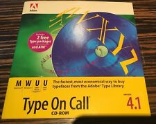 Adobe Type On Call  4.1 for Macintosh Windows Unix Sun