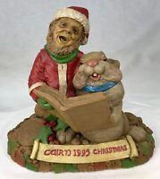 Tom Clark Gnome & Tim Wolf Rabbit Singing Cairn Christmas 1995 #6314 Ed #22 COA