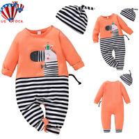 2CPS Newborn Baby Clothes Kids Boys Girls Cotton Jumpsuit Romper Playsuit Outfit