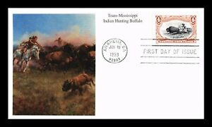 DR JIM STAMPS US INDIAN HUNTING BUFFALO TRANS MISSISSIPPI UNSEALED FDC COVER
