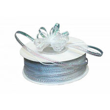 "3mm-1/8"" Organza Pull bow ribbon  white  50yd"