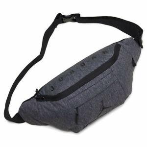 Nike Air Jordan Crossbody Fanny Pack Black Adjustable Shoulder Bag 9A0092-GEH