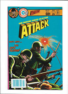 ATTACK #46 [1984 VF+] BAYONET COVER!   CHARLTON