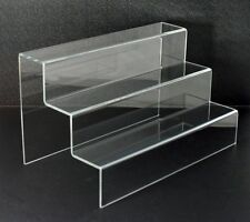"Step riser 3 steps 12""h x 10""w x 12""d 1/8"" acrylic plexiglass Lucite"