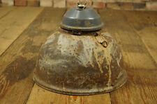Vintage Industrial Lamp XL Ceiling Light Workshop Enamel Loft Factory K21