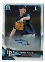 2018 Bowman chrome baseball CPA-TD Tanner Dodson 1st bowman chrome auto