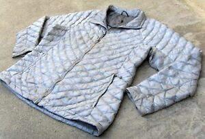 The North Face THERMOBALL Puffer Jacket women's XXL Light Gray or Silver