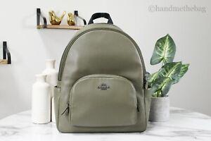 Coach 5669 Large Kelp Refined Pebbled Leather Court Backpack Bag Bookbag