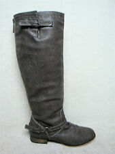 BRECKELLE'S - OUTLAW 11 - Women's Taupe Knee High Riding Style Boots - Size 11 M