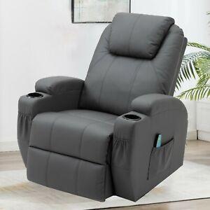 Massagesessel 360°drehbar Fernsehsessel Relaxsessel Wärmefunktion Fernbedienung