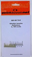 Quickboost 1/48th Scale Item No. 48764 Gloster Javelin Antennas for Airfix Kit