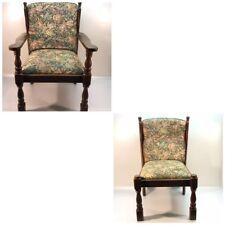 2x Stühle Antik Stühl Stil Holz Stuhl Bürostuhl Antik Armlehnensthul Massiv Holz