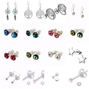 Sterling Silver Earrings/Studs  In Various Different Designs