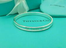 Tiffany & Co. Medium Sterling Silver 1837 Bangle Bracelet, Full UK Hallmarked!